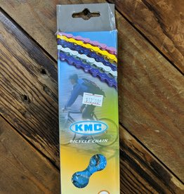 "KMC KMC Z410 Chain - Single Speed 1/2"" x 1/8"", 112 Links, Blue"