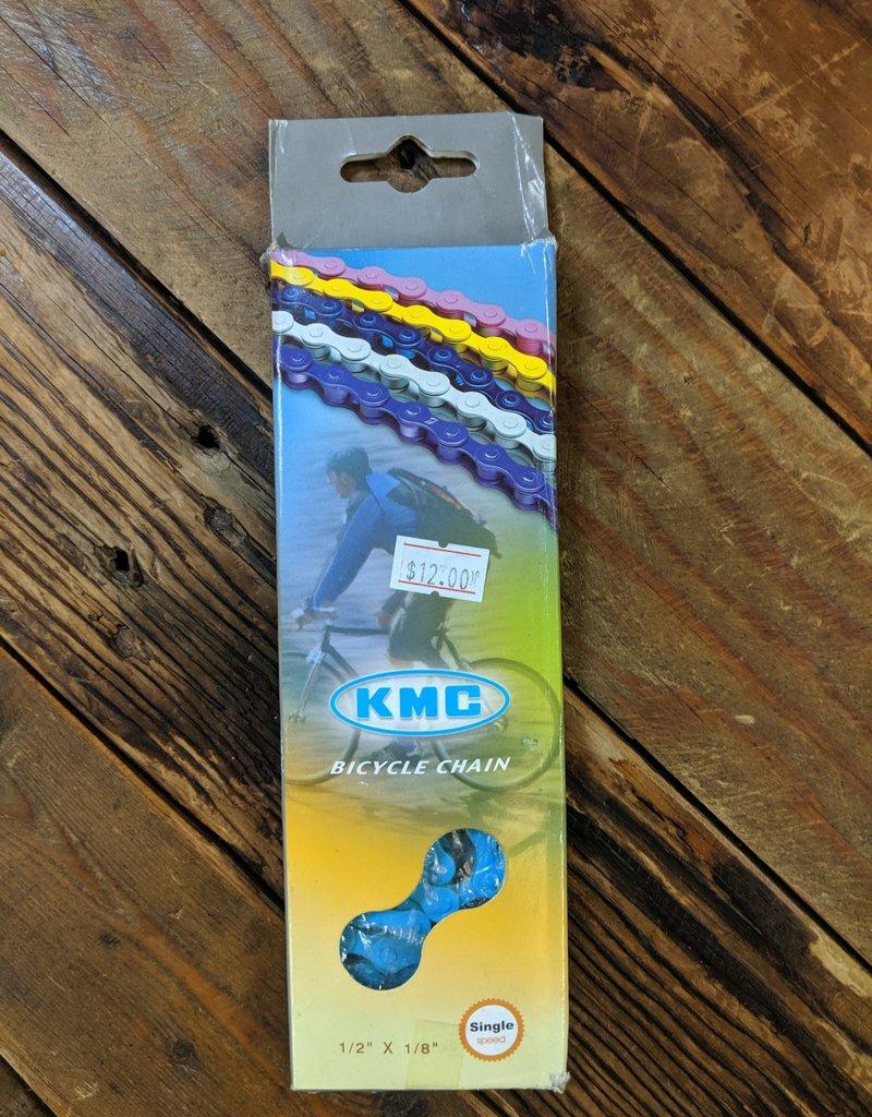 """KMC KMC Z410 Chain - Single Speed 1/2"""" x 1/8"""", 112 Links, Blue"""