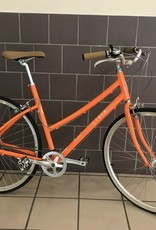 Civia Civia Lowry 7-Speed Step-Thru Bike - 700c, Aluminum, Orange/Coconut White, Large