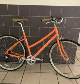 Civia Civia Lowry 7-Speed Step-Thru Bike - 700c, Aluminum, Orange/Coconut White, Large