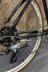 "Civia Civia Lowry 7-Speed Step-Over Bike - 26"", Aluminum, Black Jelly Bean/ Mint Green, Small"