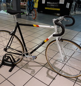 State Bicycle Co. State Bicycle Co. Van Damme Fixed Gear / Single Speed Bike, 55cm Riser Bar