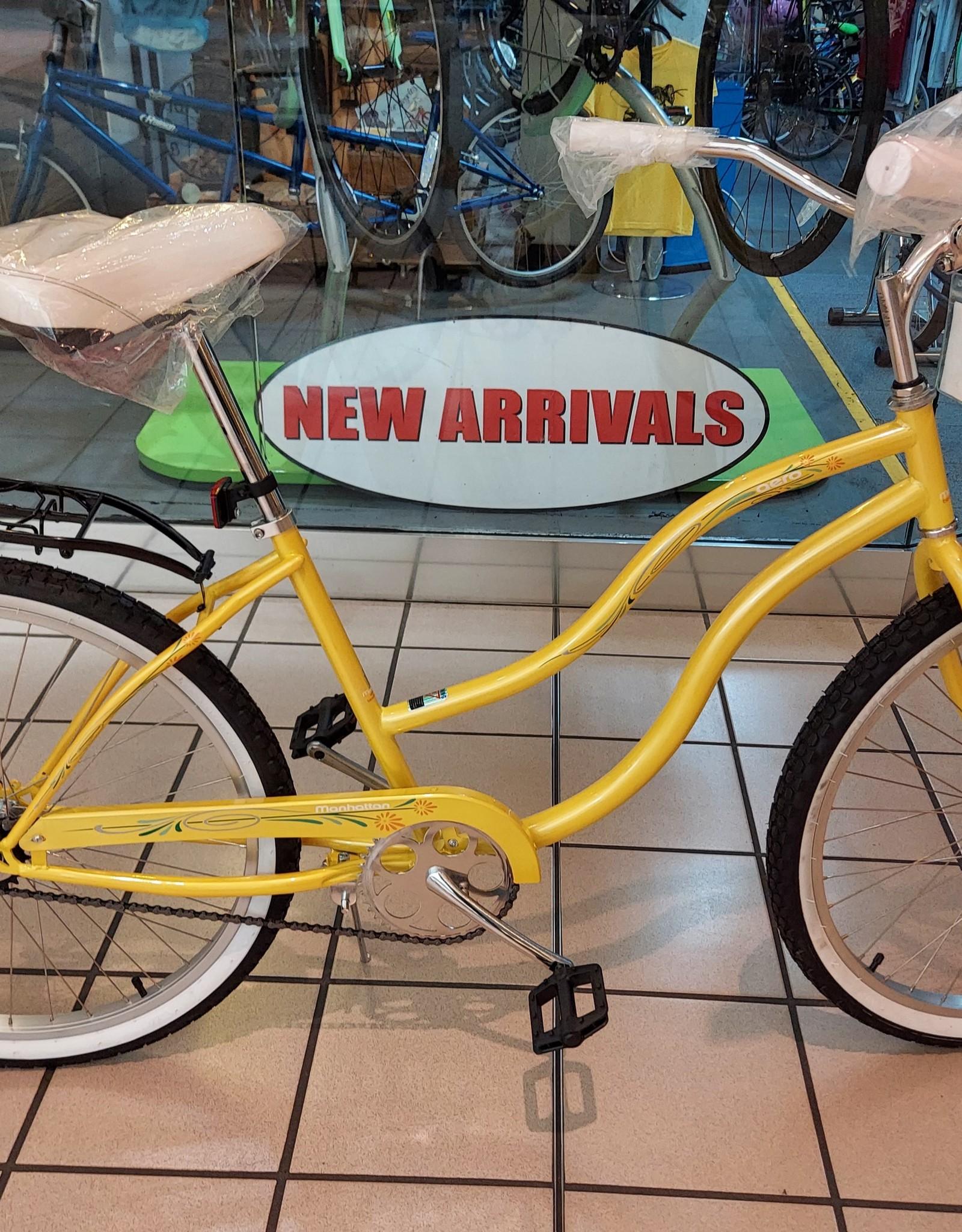 KHS KHS Aero Yellow Ladies Cruiser 2021 w/ Rack Package