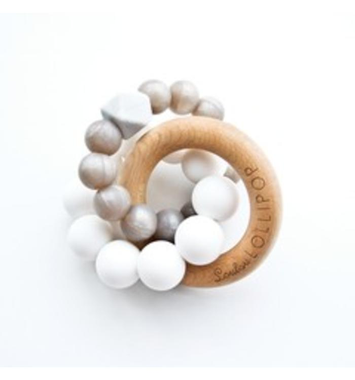 Loulou Lollipop LOULOU LOLLIPOP TRINITY SILICONE & WOOD TEETHER