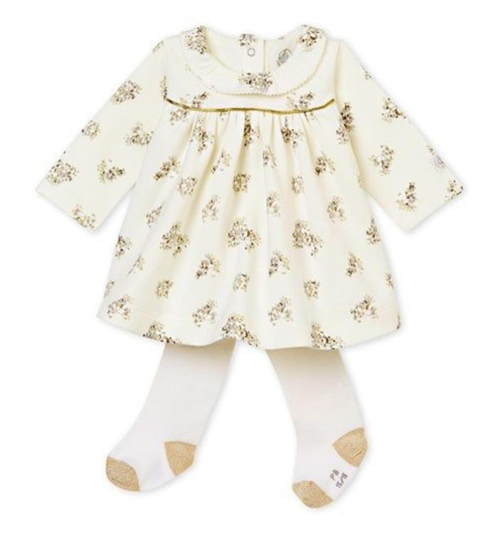 Petit Bateau PETIT BATEAU FESTIVE DRESS AND THIGHTS, CR