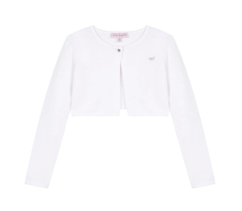 Lili Gaufrette Girl's Cropped Cardigan, CR