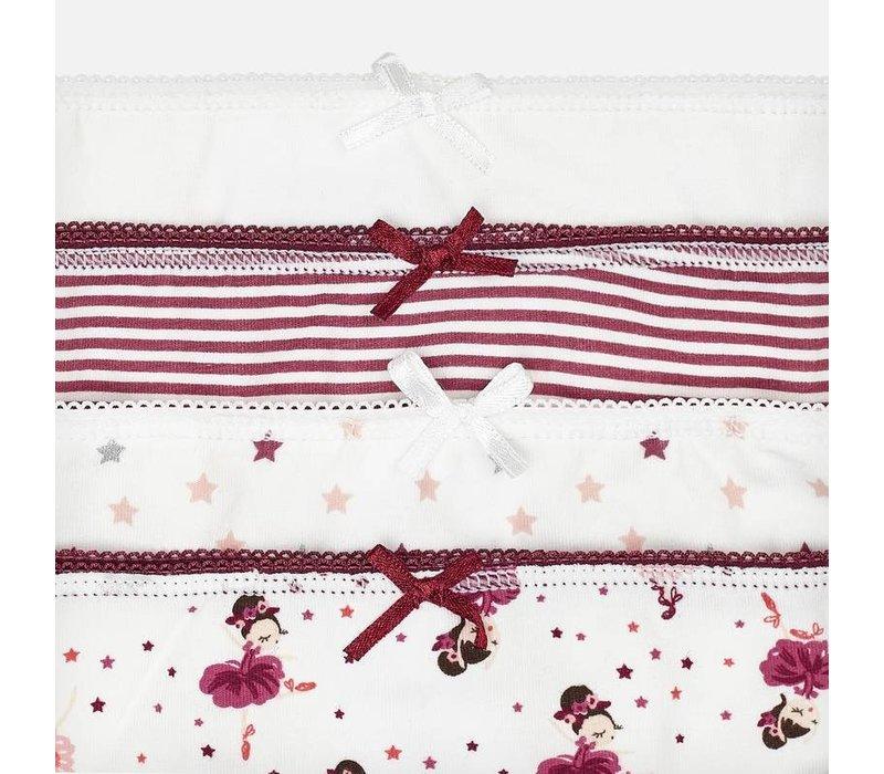 Mayoral Girl's 4 Panties Set, CR