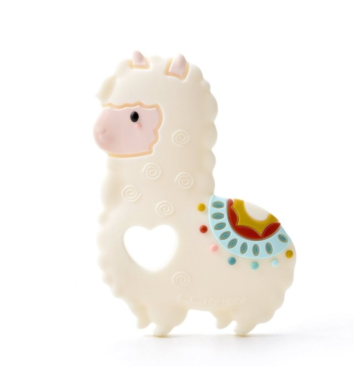 Loulou Lollipop LOULOU LOLLIPOP LLAMA SILICONE TEETHER