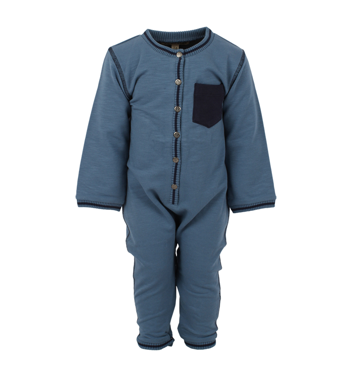 Small Rags Small Rags Boys Long Onesie, AH19