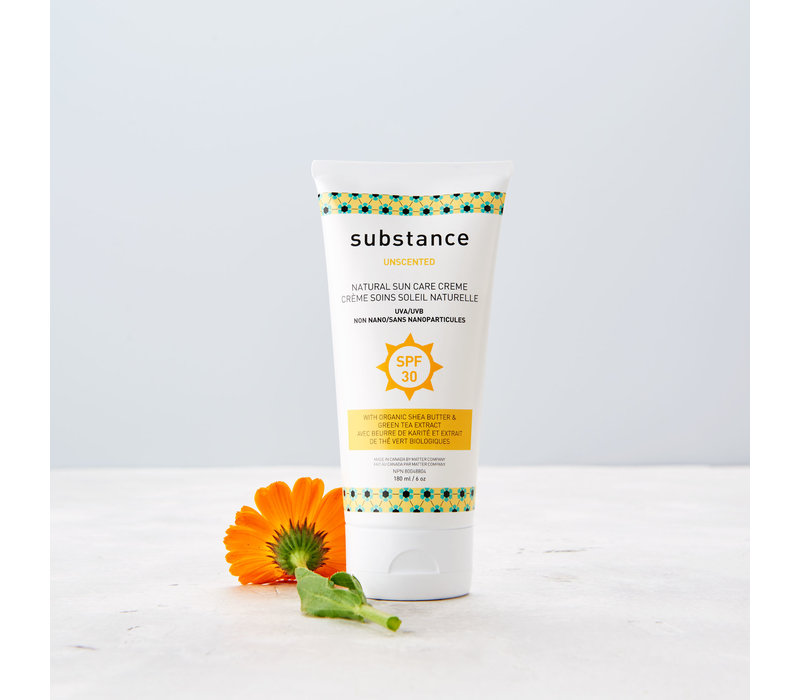 SUBSTANCE UNSCENTED NATURAL SUN CARE CREAM