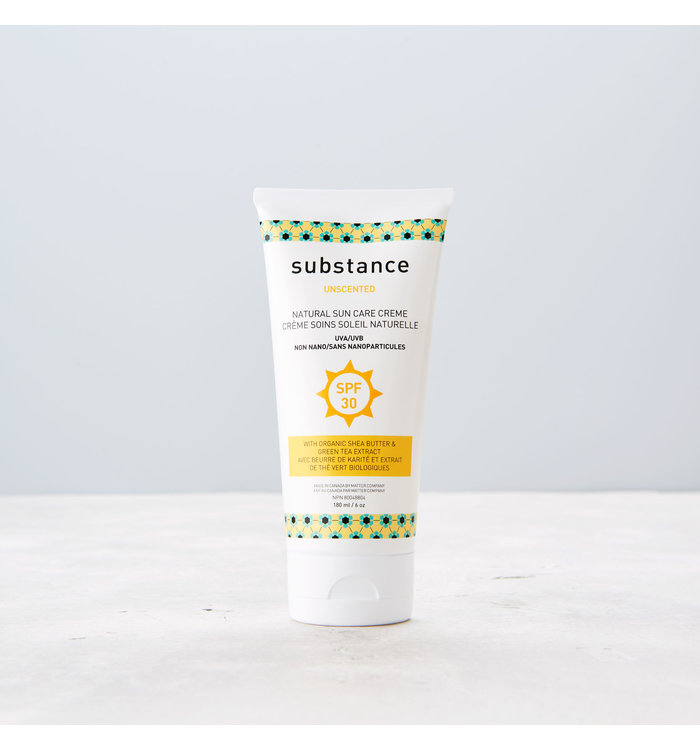 Substance SUBSTANCE UNSCENTED NATURAL SUN CARE CREAM
