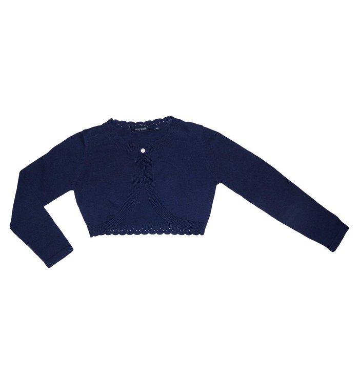 Cardigan Fille Blue Seven