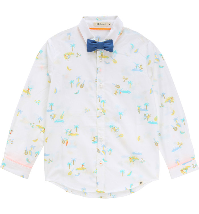 Billybandit Billybandit Boys Shirt with Bowtie, CR