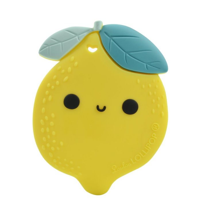 Loulou Lollipop LOULOU LOLLIPOP LEMON SILICONE TEETHER
