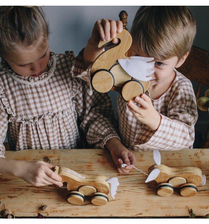 Kinderfeets KINDERFEETS MAMBOO PUSH & PULL ANIMAL
