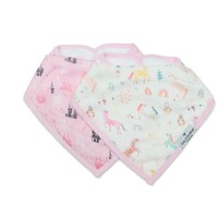 LOULOU LOLLIPOP MUSLIN BANDANA-BIB SET OF 2