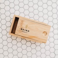 Bkind bamboo transport box for shampoo and conditioner