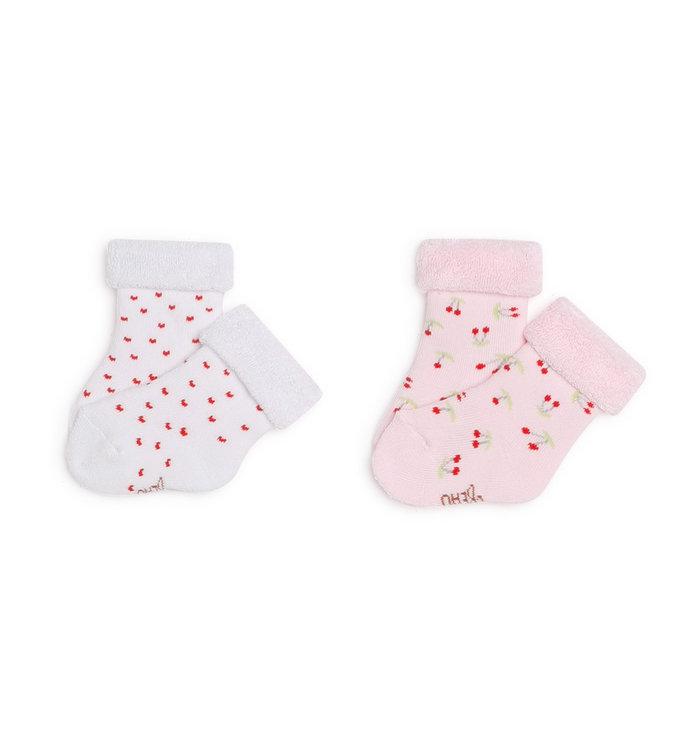 Carrément Beau Girl's 2 Socks Pairs