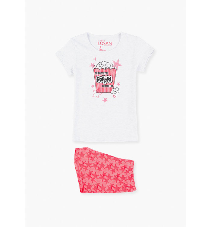 Losan Girl's 2 Piece Pyjama