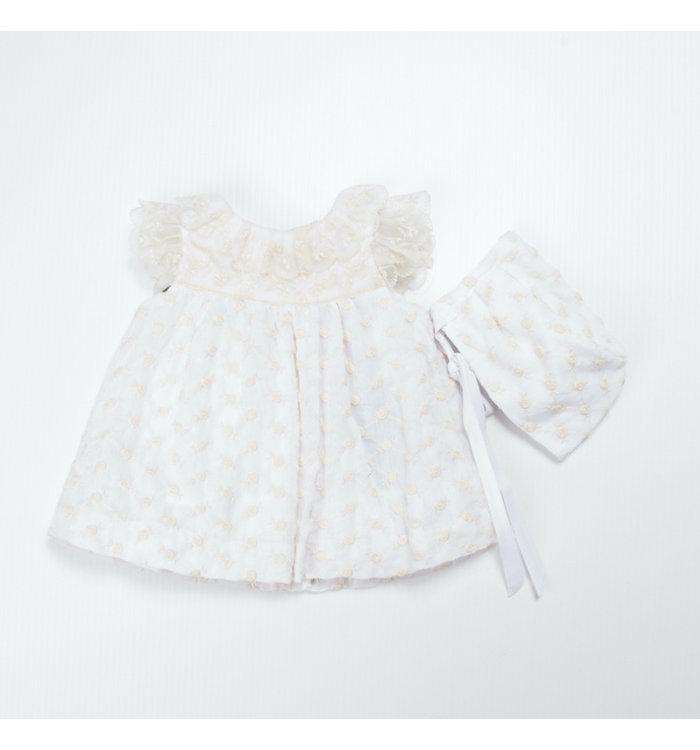 M&B Fashion M&B Fashion Girl Dress+Bonnet