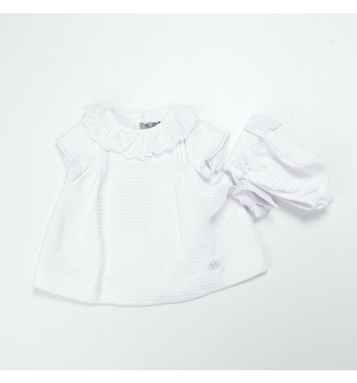 José Varon José Varon Girl Dress+Bonnet