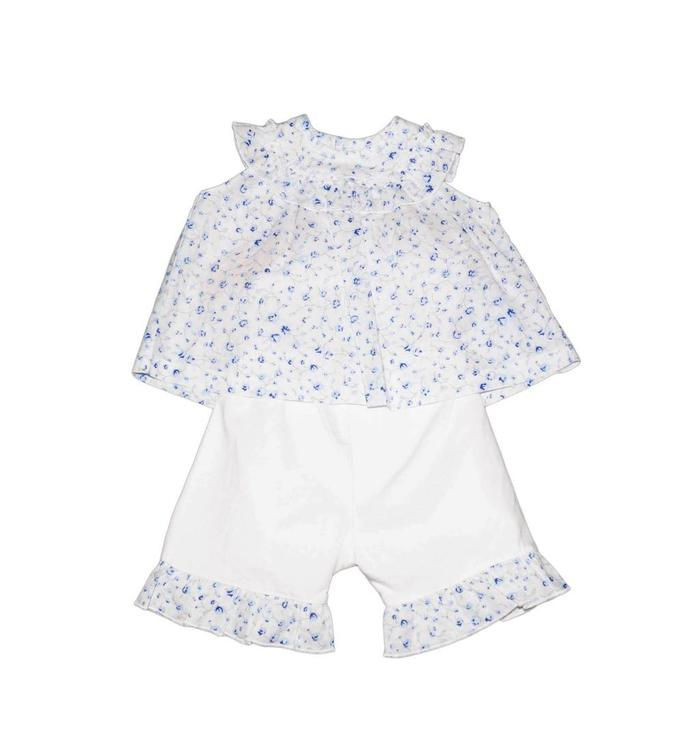 Emile & Rose Emile & Rose Blouse and Short Set