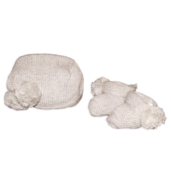Pureté du... Bébé Pureté de Bébé Girl's Hat & Booties, AH