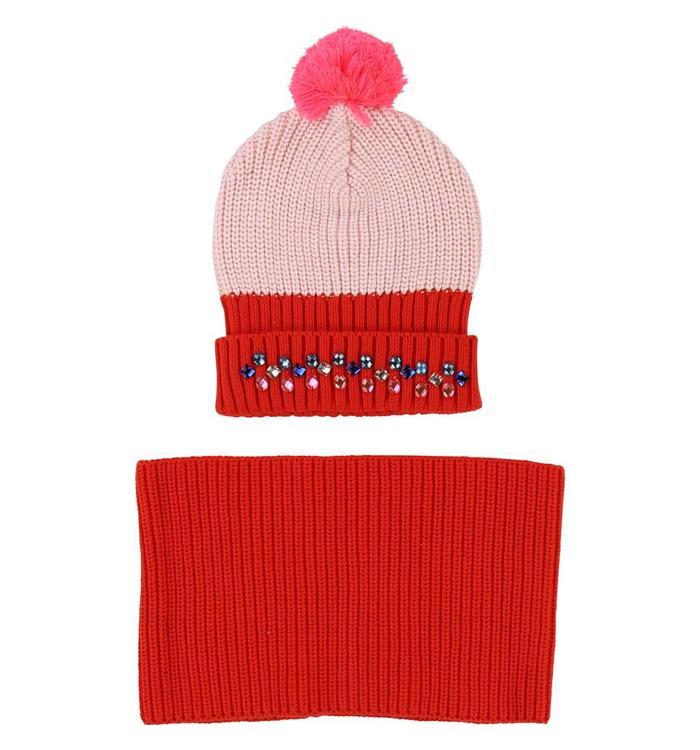 Billieblush Billieblush Girl's Hat & Neck Warmer, AH