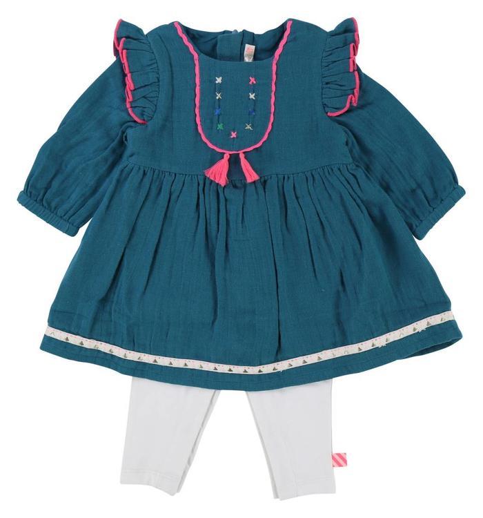 Billieblush Billieblush Girl's Dress & Tights Combination, AH