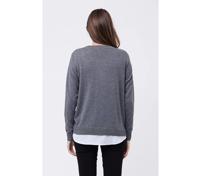 Ripe Maternity Cross Front Nursing Sweater, CR