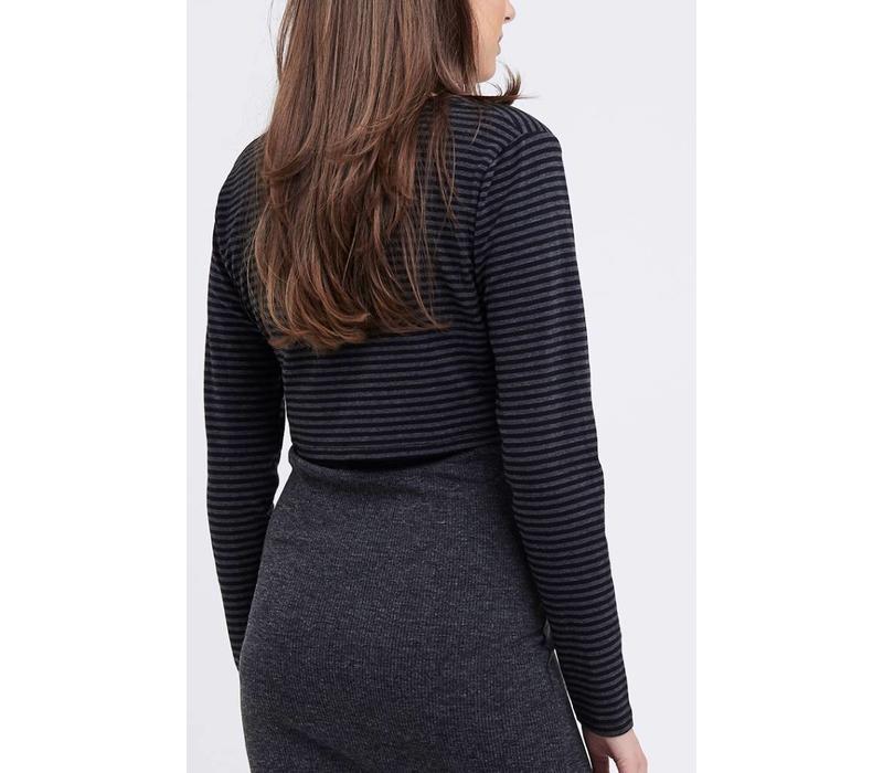 Ripe Maternity Stripe Crop Top, CR