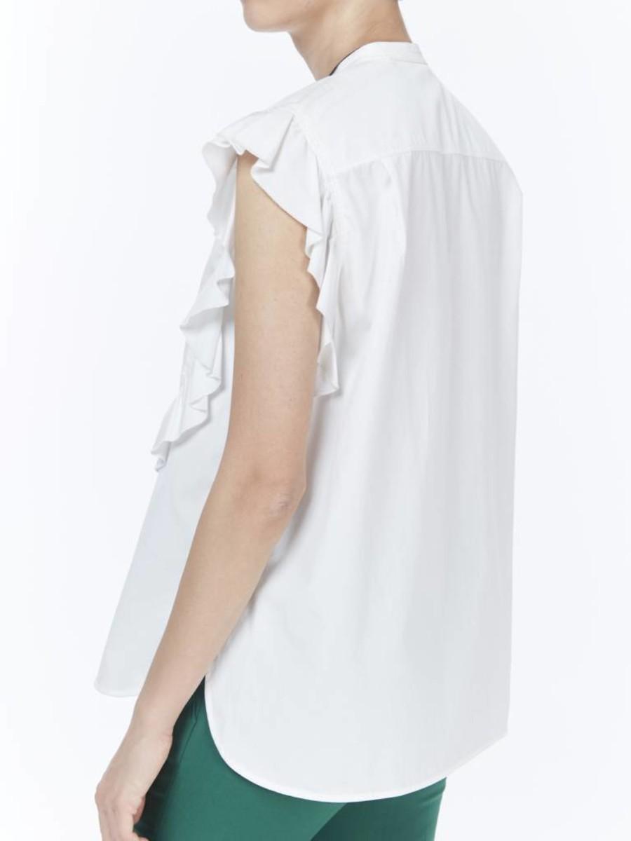 66b61b0b HELMUT LANG. C$110.00. Item Sold. Size: Large. White sleeveless cotton button  up shirt ...