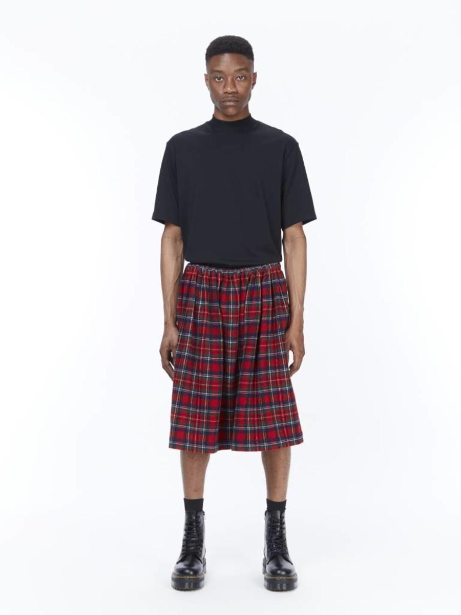 a1a8a359b Tricot Comme des Garçons Plaid A-Line Skirt | RUSE