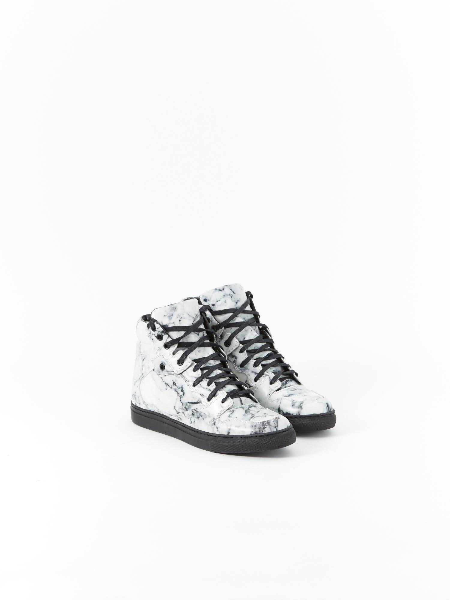 Balenciaga Marble High Top Sneakers | RUSE
