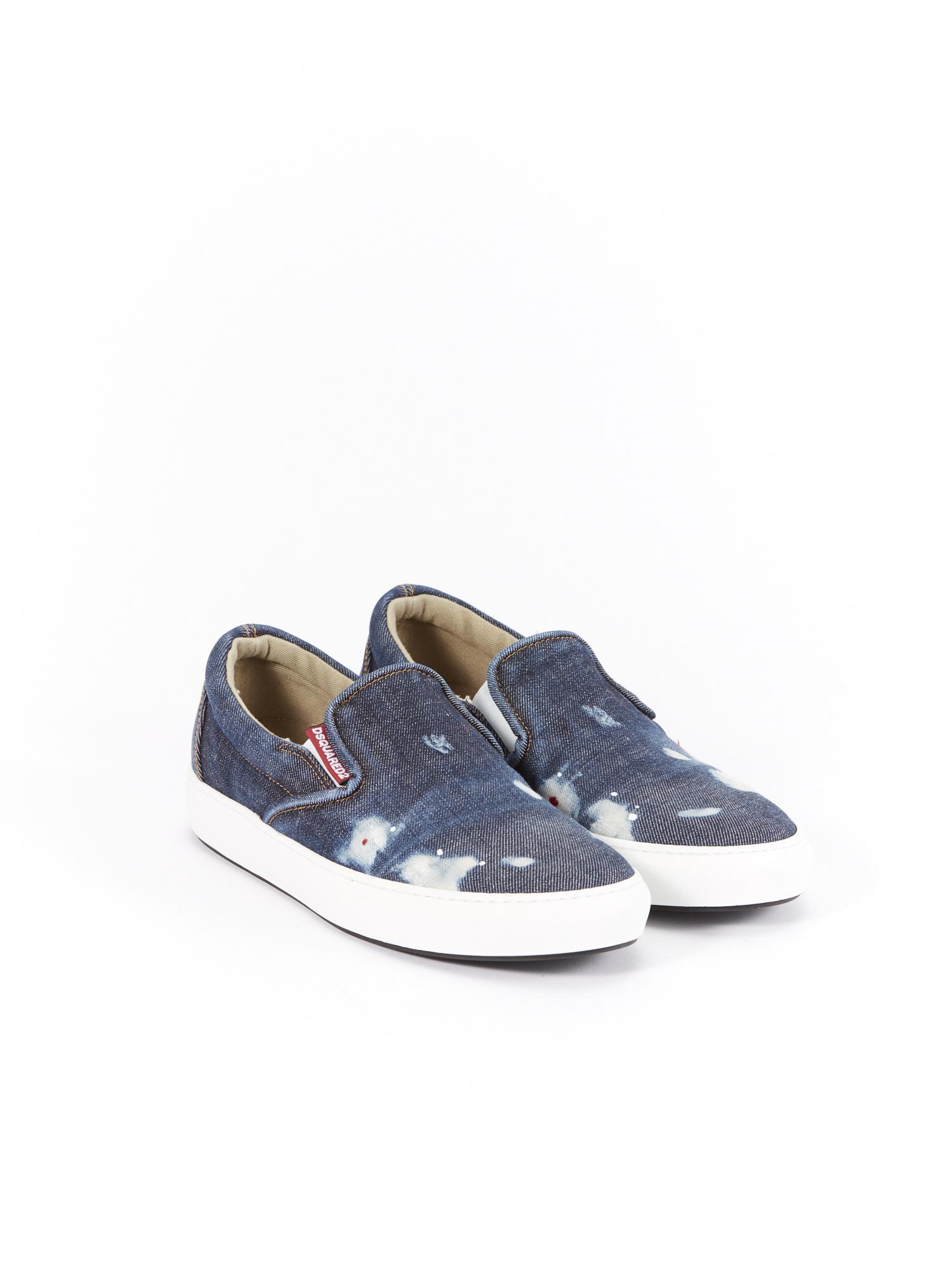 DSQUARED2 Denim Slip-On Sneakers   RUSE