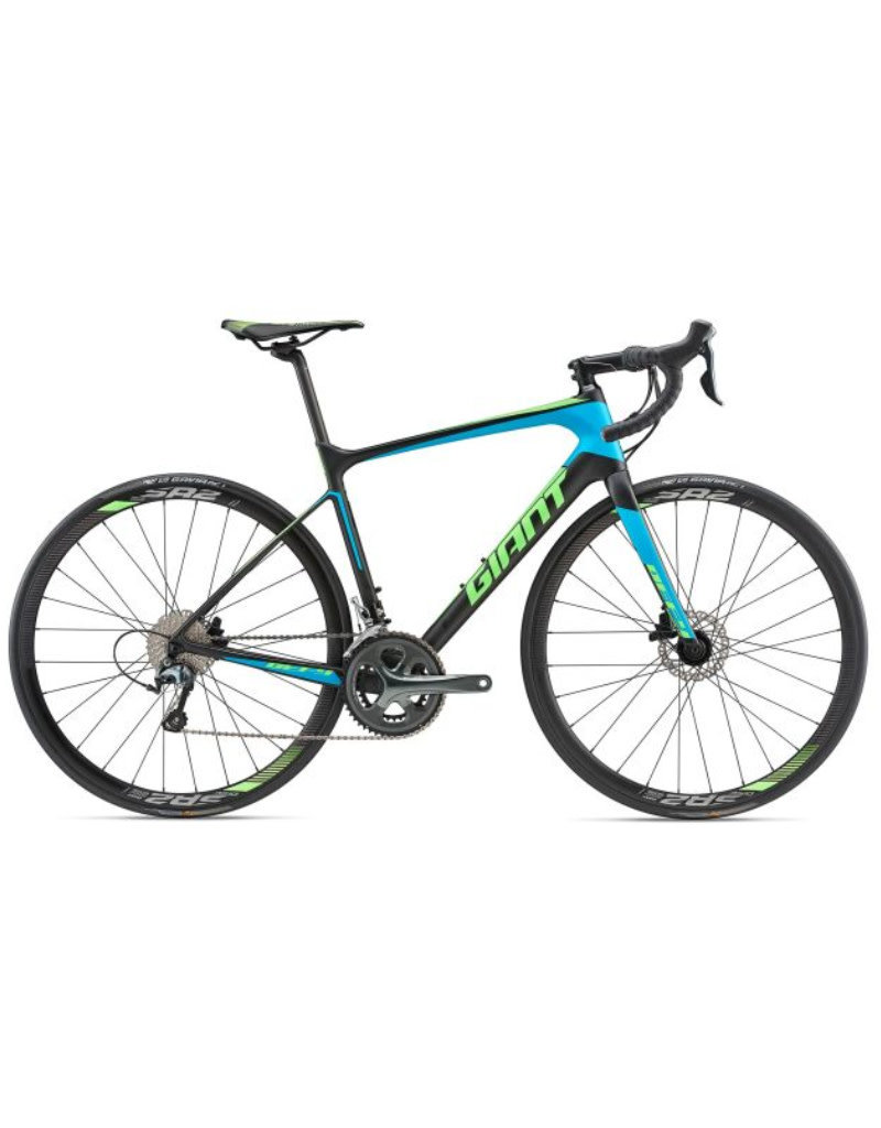 Giant Defy Advanced 3 M Matte Carbon Smoke/Blue/Neon Green