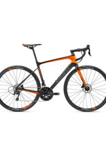Giant Defy Advanced 2 M Matte Carbon Smoke/Neon Orange/Charcoal