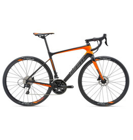 Giant 2018 Defy Advanced 2 M Matte Carbon Smoke/Neon Orange/Charcoal