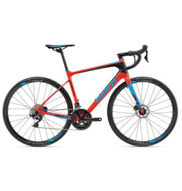 Giant 2018 Defy Advanced 1-CDB L Matte Neon Red/Blue/Black