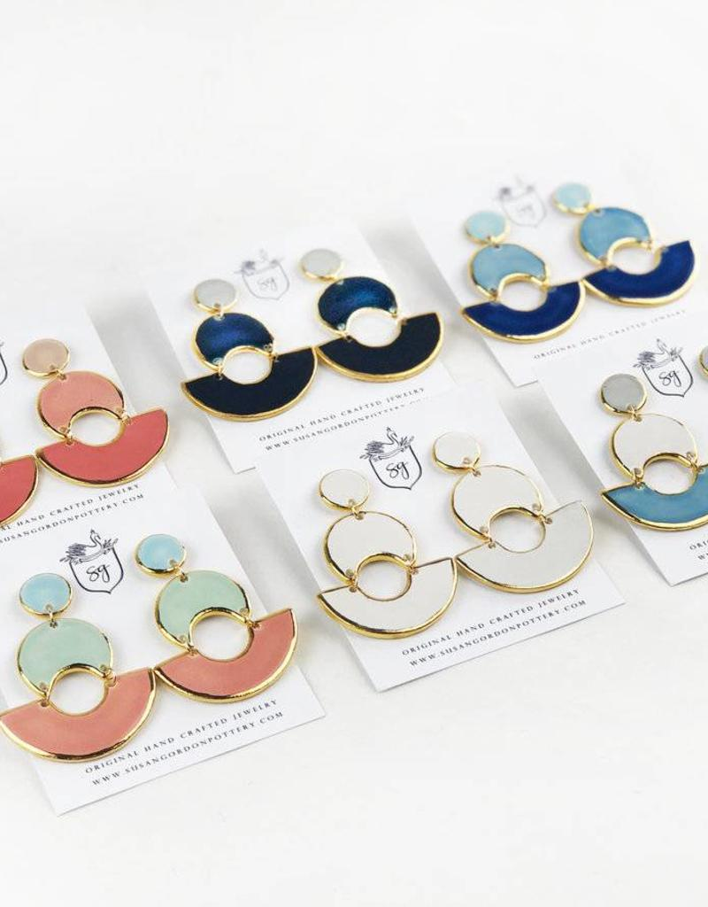Susan Gordon MOD Colorblock Earrings