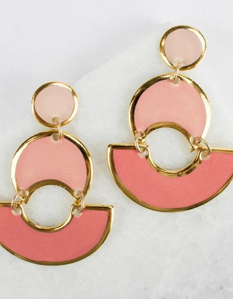Susan Gordon MOD Colorblock Earrings