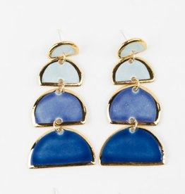 Susan Gordon Fiesta Ombre MOD Half Moon Earrings