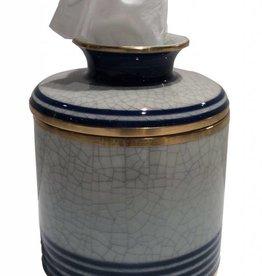 Dessau Home Blue Line Tissue Box