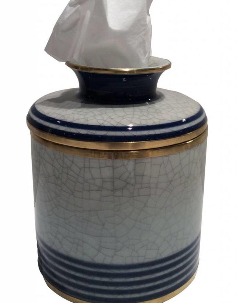 Blue Line Tissue Box