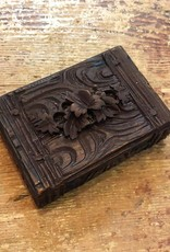Vintage Petite Carved Wooden Box