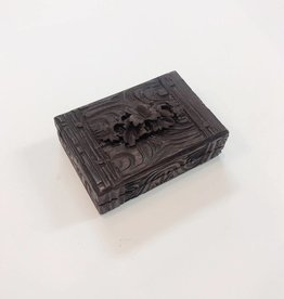 Petite Carved Wooden Box