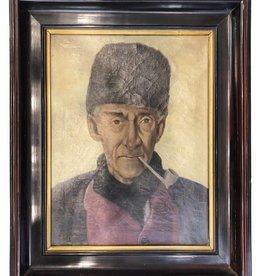 "Pipe Man - Oil on Canvas""Dolezal"""