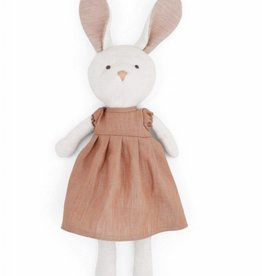 Hazel Village Emma Rabbit in Clay Linen Dress