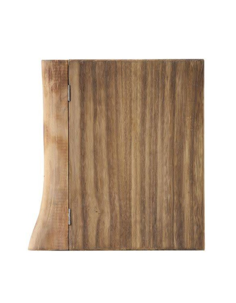"Wood Book Box 8"" x 2"" x 8.5"""