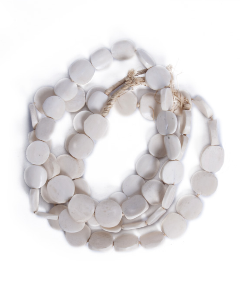 Bone Disc Glass Beads